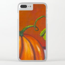 Pumpkin #2 Clear iPhone Case