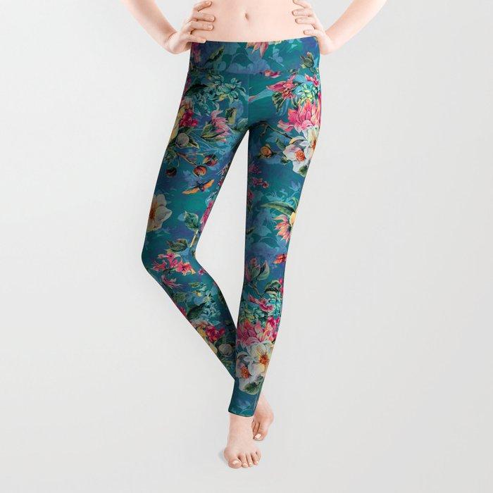 Floral Ocean III Leggings