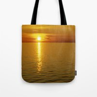 swedish Tote Bags featuring Swedish Sunset by LesImagesdeJon