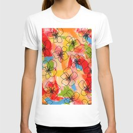 Hibiscus Family no.1 hibiscus illustration flower pattern floral painting nursery room decor Hawaii T-shirt