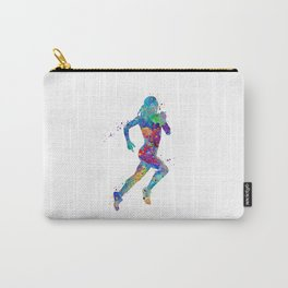 Girl Running Colorful Watercolor Sports Art Carry-All Pouch