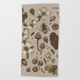 Nature Walks (Light Background) Beach Towel