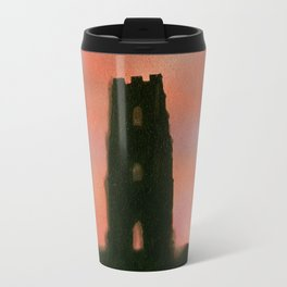Sunset Over the Tor Travel Mug