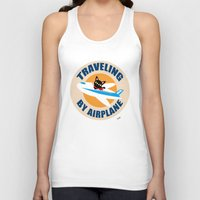 airplane Tank Tops featuring Airplane by BATKEI