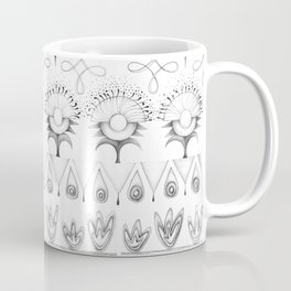 the rhyme of repetitive elements - black and white drawing Coffee Mug