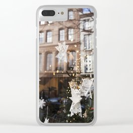 Window Reflections  //  Christmas in the City Clear iPhone Case