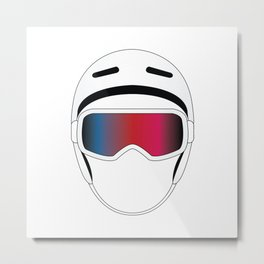 Snowboard Helmet and Goggles Metal Print