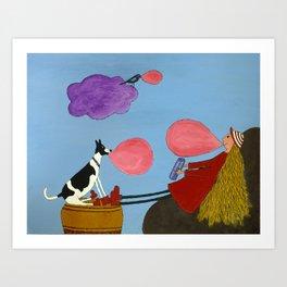 Super Bubblegum Art Print