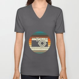 Vintage Retro Camera Photographer Gift Unisex V-Neck