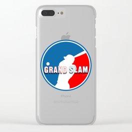 Grand Slam Baseball Logo Clear iPhone Case