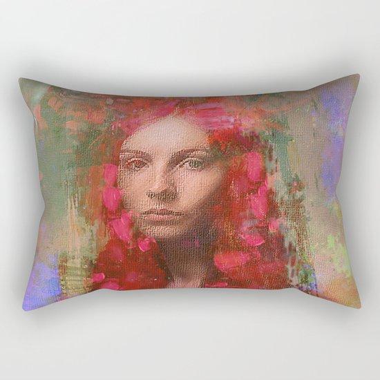 petals Lady Rectangular Pillow