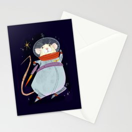 Astronaut Marty Mouse in Space Stationery Cards