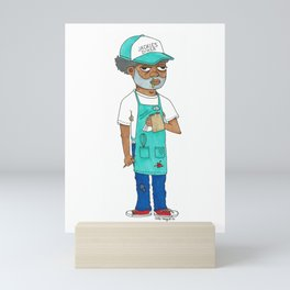 Waiter Ed From Jackie's Diner Mini Art Print