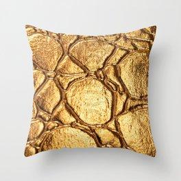 Golden tortoise shell Throw Pillow