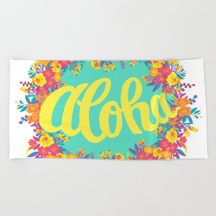 Aloha Beach Towel By Marcomarella