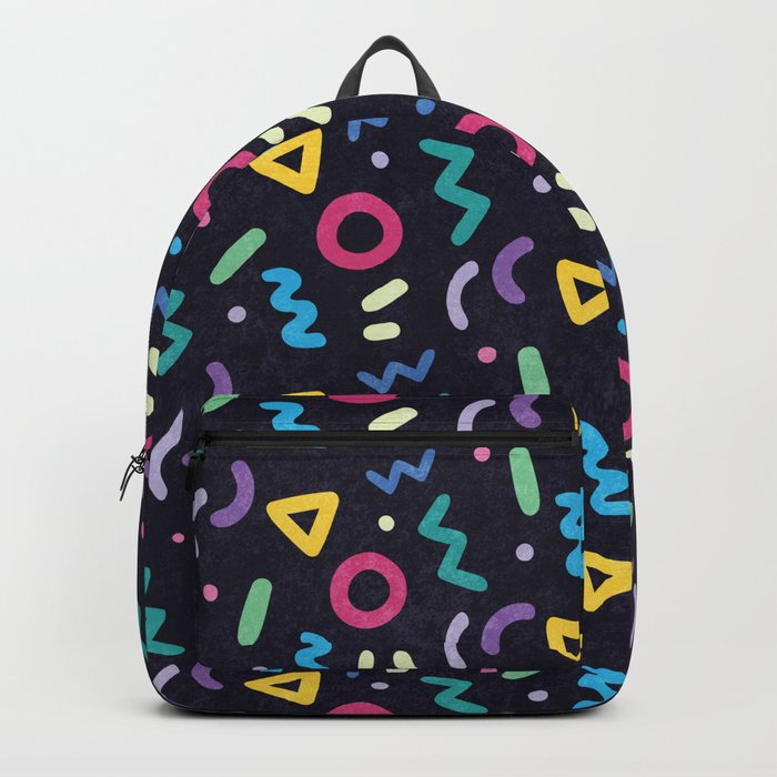 Black Memphis Pattern Backpack