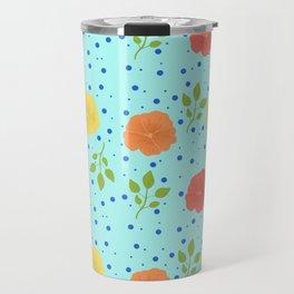 Flower Pattern Travel Mug