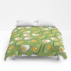 Egg and avocado Comforters
