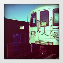 Subway A train in Queens - NYC Canvas Print