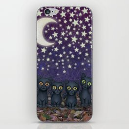 black cats, stars, & moon iPhone Skin