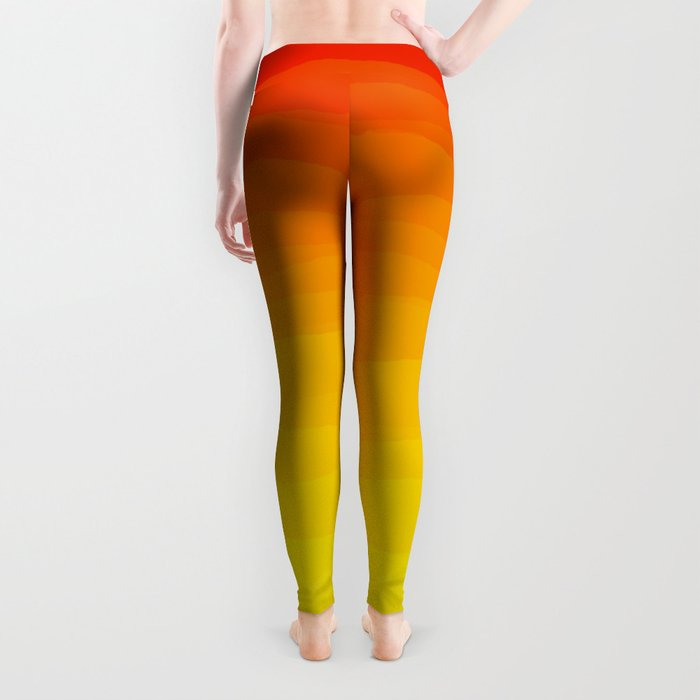Red to Yellow Sunset Leggings