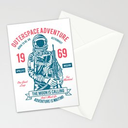 Outer space Adventure - Born to be an astronaut Stationery Cards