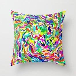 Fluid Rainbow Throw Pillow