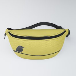 Bird and wires Fanny Pack