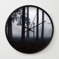 narnia Wall Clocks featuring Misty Park by Lyssia Merrifield