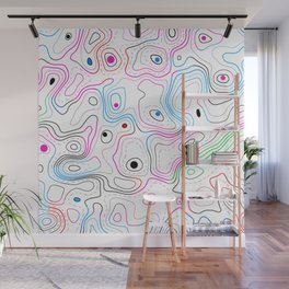 Colorful abstract wood grain swirls pattern Wall Mural