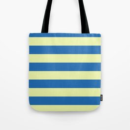 blue and cream stripes Tote Bag