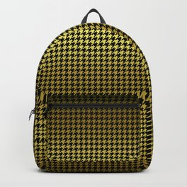 Black and Gold Houndstooth Check Backpack