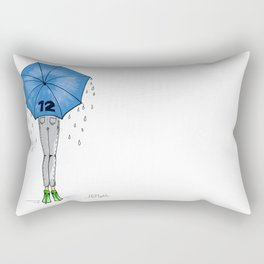 12th Man Umbrella // Fashion Print Rectangular Pillow