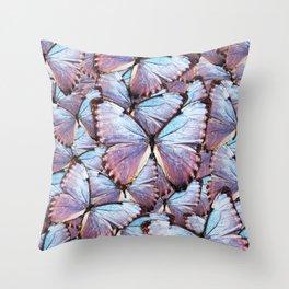 Iridescent Butterflies Throw Pillow