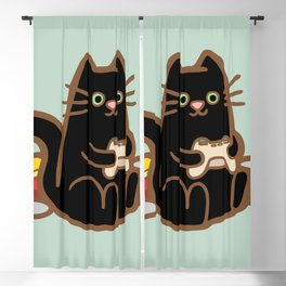 Gamer Cat Blackout Curtain