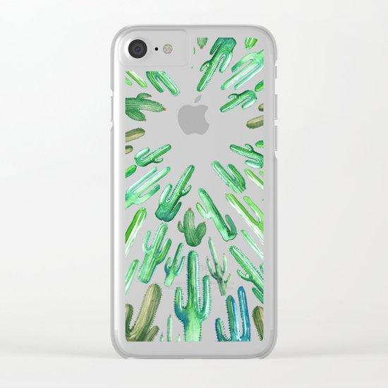 cactus invasion Clear iPhone Case