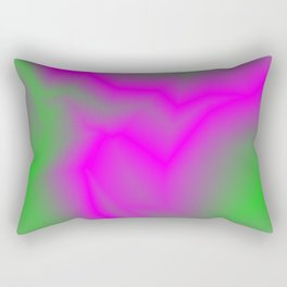 Blurry outlines of lightning with a swirling gap. Rectangular Pillow
