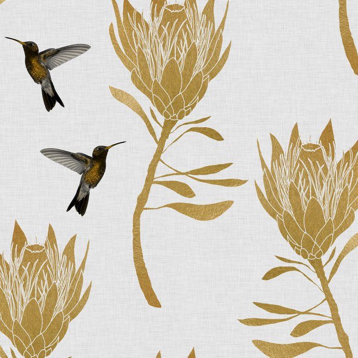 Hummingbird & Flower I Leggings
