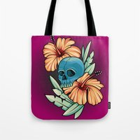 hibiscus Tote Bags featuring Hibiscus by kellyhalloran