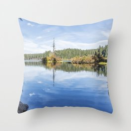 The Snag at Clear Lake Throw Pillow
