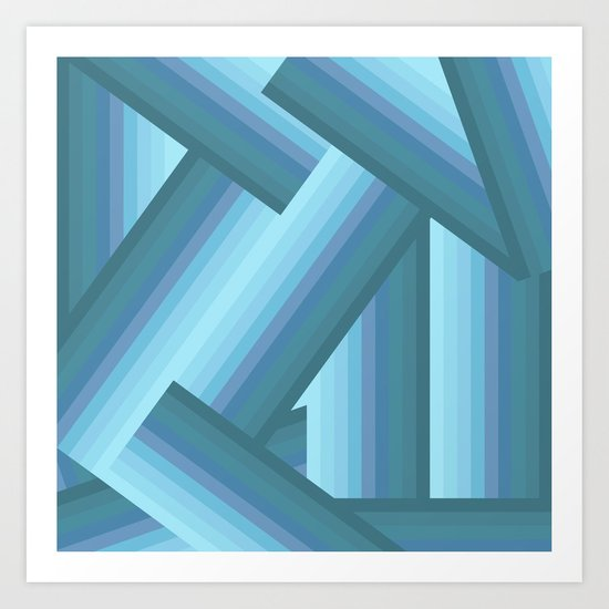 Gradient Blue Art Print