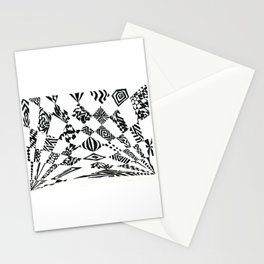 Spotlights, Black/White Abstract (Ink Drawing) Stationery Cards