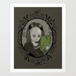 Mary Shelley and Creature Art Print