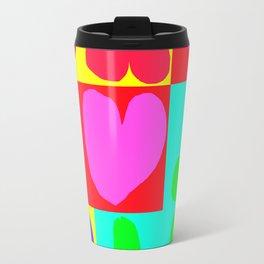 corazones,colores y penes Travel Mug