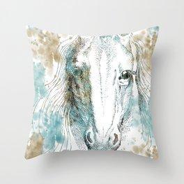 Watercolor Horse Throw Pillow