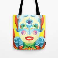 i woke up like this Tote Bags featuring I Woke up like This by Anai Greog