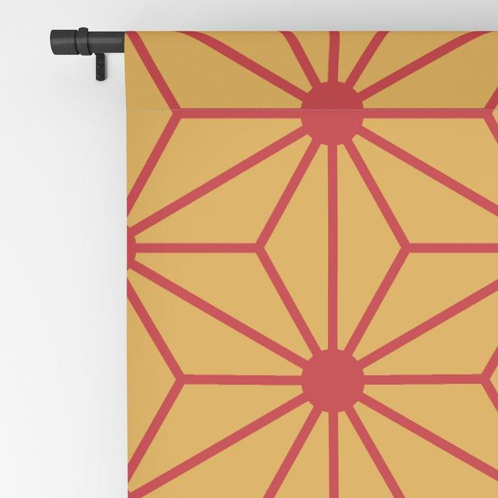 Japanese asanoha 2 Seamless Patterns Symbols Blackout Curtain by pips4life