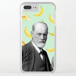 Sigmund Freud Clear iPhone Case