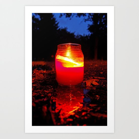 Summer candle Art Print