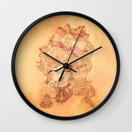 Twisted Candy Wall Clock